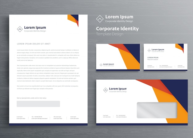 Classic stationery business corporate identity