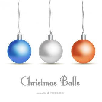 Классический стиль рождественская открытка с шарами