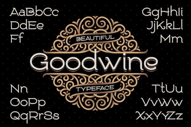 Набор шрифтов в классическом стиле с декоративным орнаментом