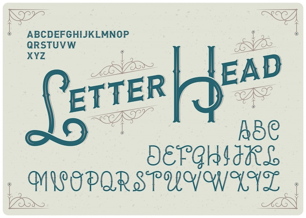 Набор шрифтов в классическом стиле