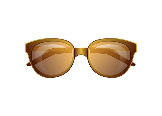 클래식 여름 선글라스 고립 된 벡터