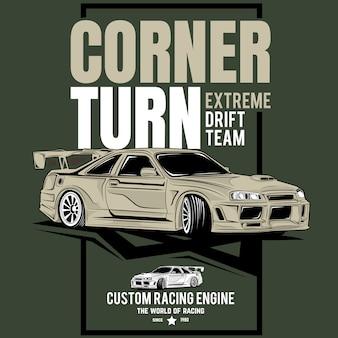 Classic super fast, poster of a sports classic car