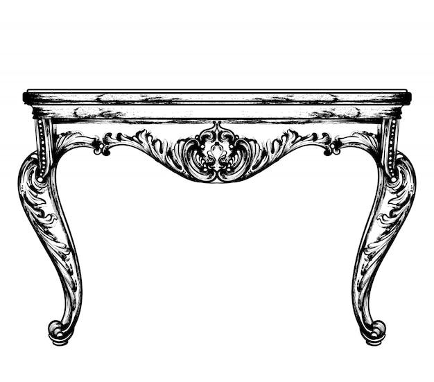 Classic table furniture