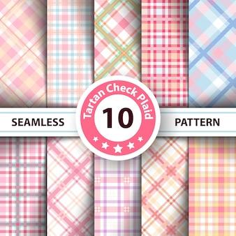 Classic tartan, merry christmas check plaid seamless patterns