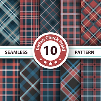 Classic tartan, merry christmas check plaid seamless patterns