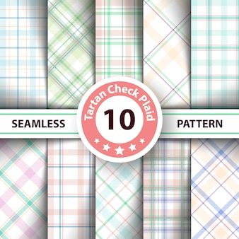 Classic tartan, merry christmas seamless patterns
