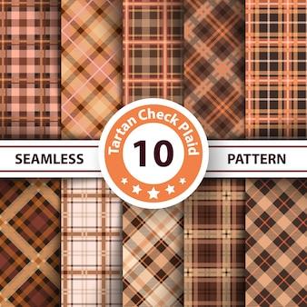 Classic tartan patterns