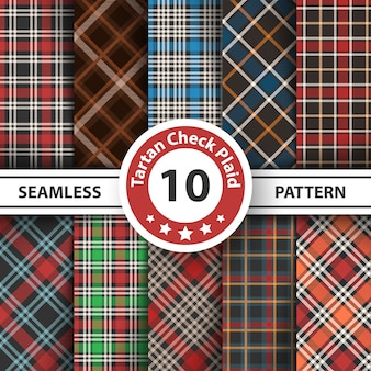 Classic tartan, picnic tablecloth, gingham, buffalo, lamberjack, merry christmas seamless