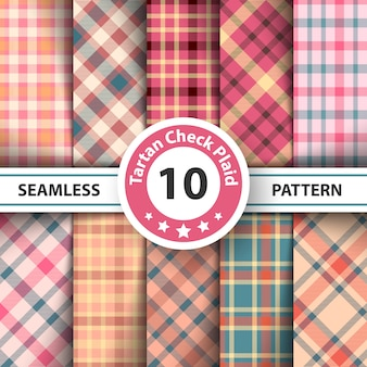 Classic tartan, picnic tablecloth, gingham, buffalo, merry christmas check plaid seamless