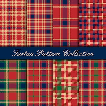 Classic tartan seamless pattern red blue and green