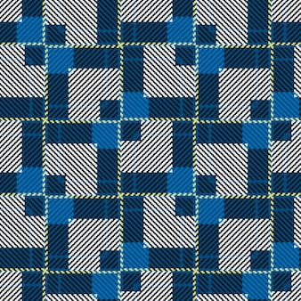 クラシックなタータンチェックのシームレスパターン。スコットランドの織りのテクスチャ。