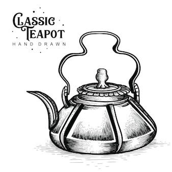 Classic teapot rustic style