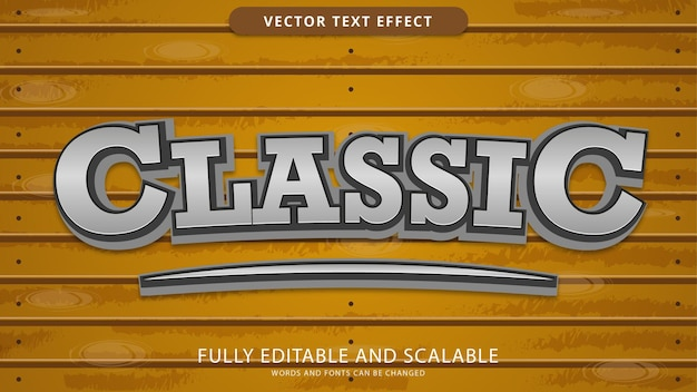 Classic text effect editable eps file
