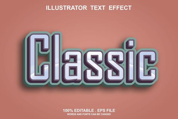 Classic text effect editable