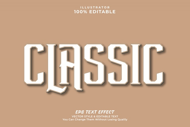 Classic text effect style