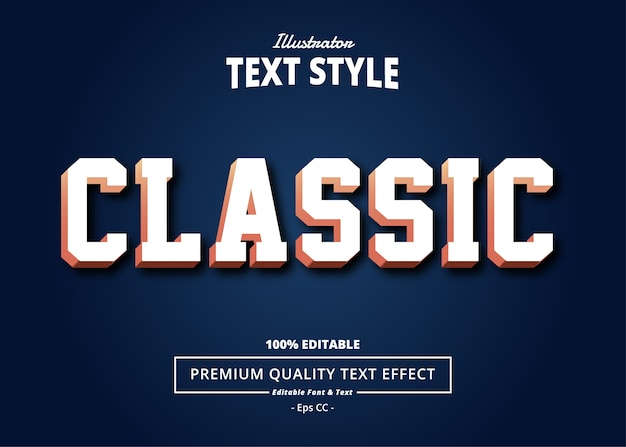 Classic  text effect