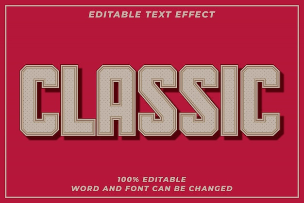 Classic text style effect
