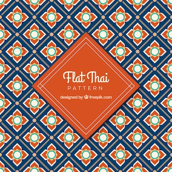 Classic thai pattern with flat design