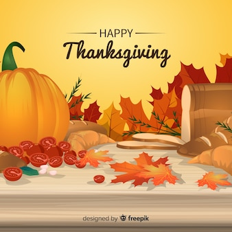 Classic thanksgiving day background with realistic design
