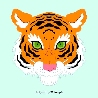 Classic tiger face compositio