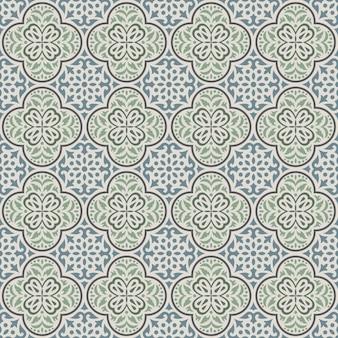 Classic tile pattern vector illustration