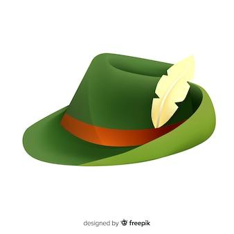 Classic tirol hat oktoberfest backgroun