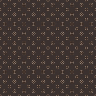 Classic traditional indonesia batik seamless pattern background wallpaper in vintage brown color