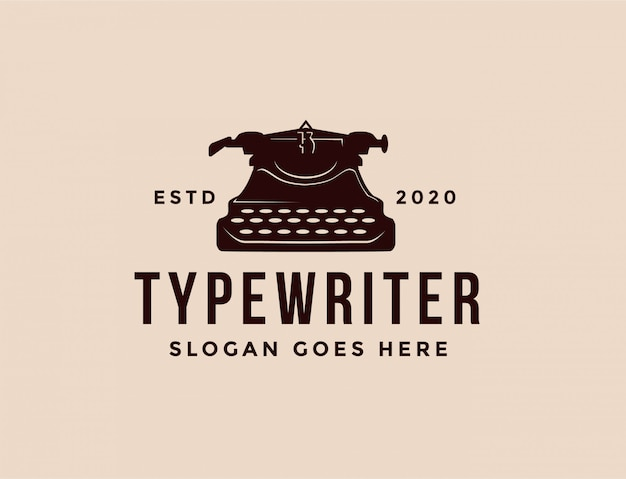 Классический логотип пишущей машинки
