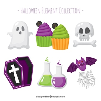Classic variety of halloween elements
