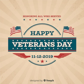 Classic veteran's day composition with vintage design