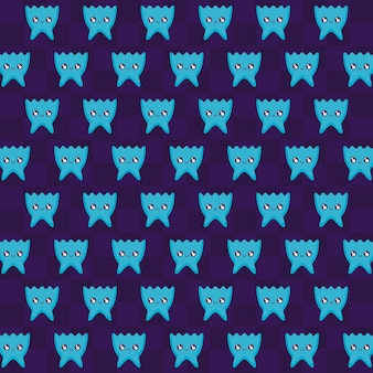 Classic video game aliens pattern
