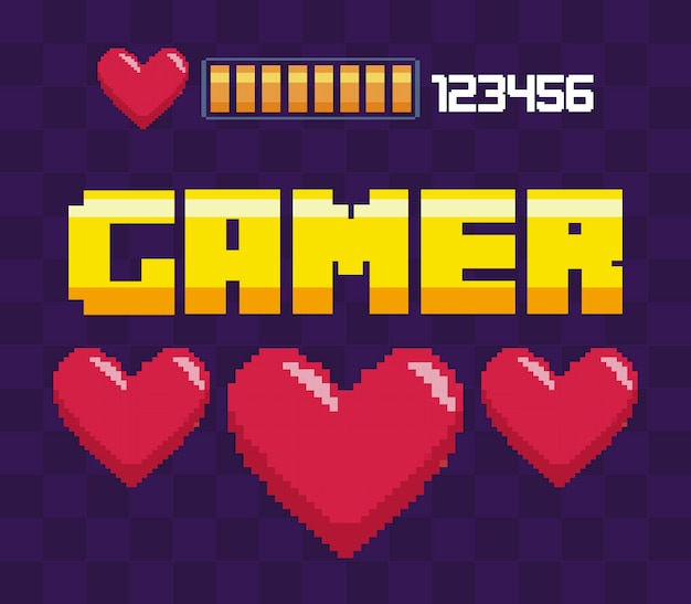 Classic video game hearts