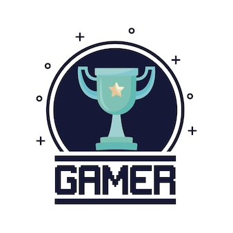 Classic video game trophy