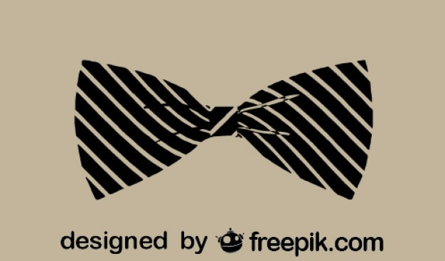 Classic vintage fashion bowtie icon