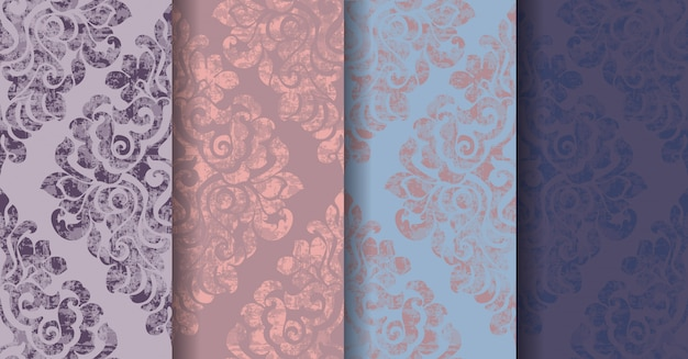Classic vintage flourish pattern background