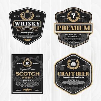 Classic vintage frame for whisky labels and antique product
