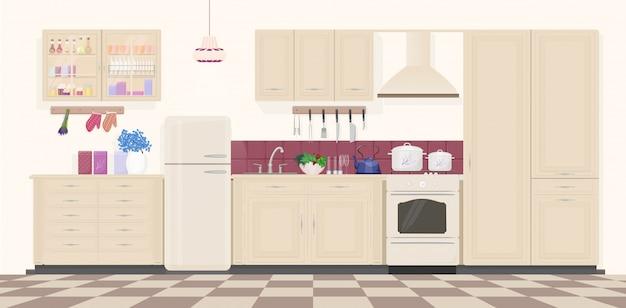 Классический винтажный кухонный интерьер