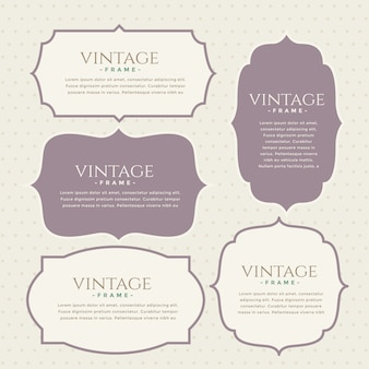 Classic vintage labels set design