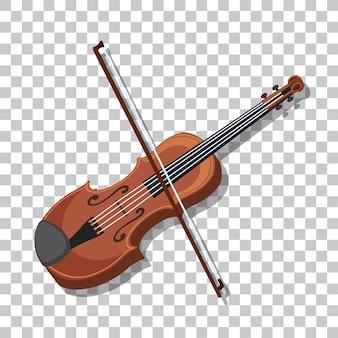 透明な背景に分離された古典的なバイオリン