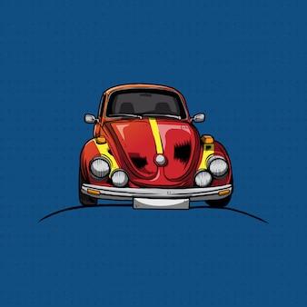 Классический volkswagen beetle hand draw