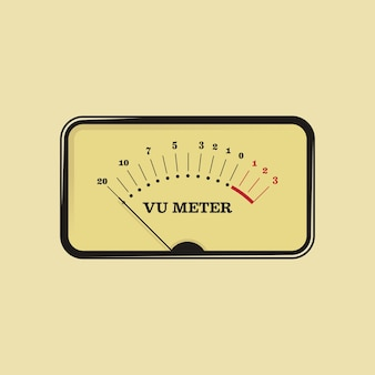 Classic vu meter Vector | Premium Download
