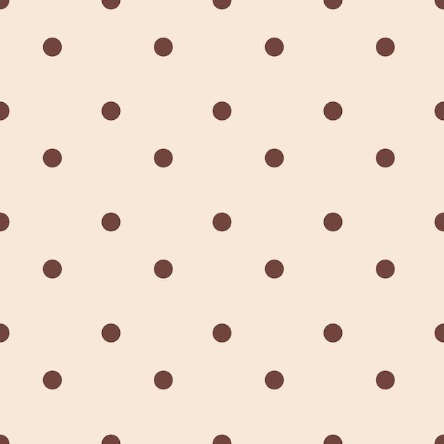 갈색 물방울 무늬의 클래식 벽지 패턴