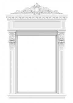 Classic white architectural window facade for the frame
