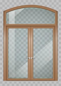 クラシックな木製窓