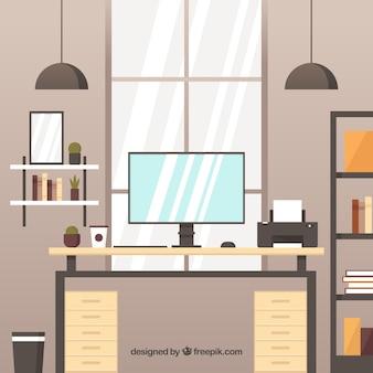 Классический дизайн рабочего пространства