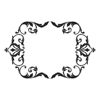 Классическое барокко старинного элемента. декоративный элемент дизайна филигранной каллиграфии. Premium векторы