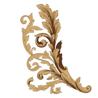 ヴィンテージ要素のクラシカルなバロック。装飾的なデザイン要素フィリグリー書道。