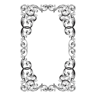 Классическое барокко старинного элемента. декоративный элемент дизайна филигранной каллиграфии.