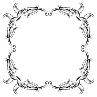 Классическое барокко винтажного элемента для дизайна. декоративный элемент дизайна филигранной каллиграфии. Premium векторы