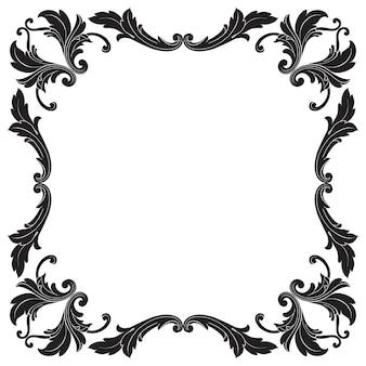 Классическое барокко винтажного элемента для дизайна. декоративный элемент дизайна филигранной каллиграфии.